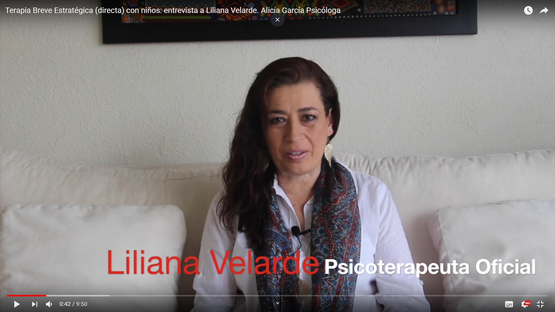 Terapia con niños: Liliana Velarde